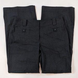 Ann Taylor Margo Curvy Size 8 Charcoal Gray Pants